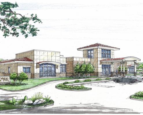 Architectural drawing of VA Loredo Exterior